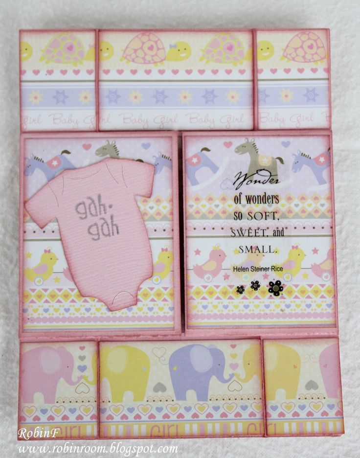 Card Making Patterns Ideas Part - 43: Robinu0027s Room: Never Ending - Baby Card Mehr