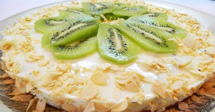 рецепт десерт киви