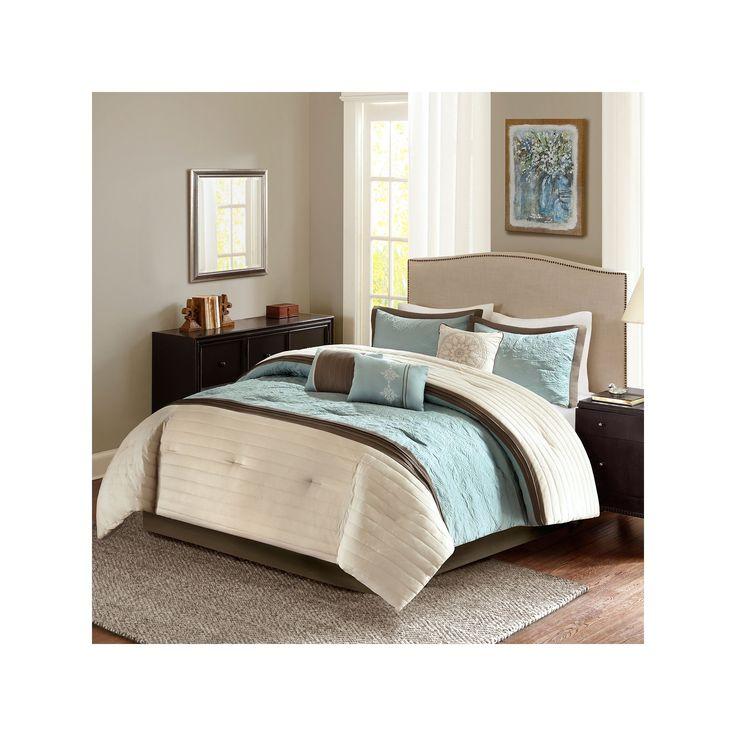 Madison Park Marnie Aqua 7-piece Comforter Set, Turquoise/Blue (Turq/Aqua)