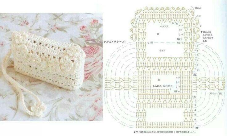 Mejores 217 imágenes de Crochet Purse en Pinterest | Bolsos de ...