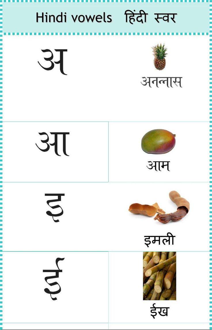 Hindi vowels in 2020 hindi worksheets hindi alphabet vowel