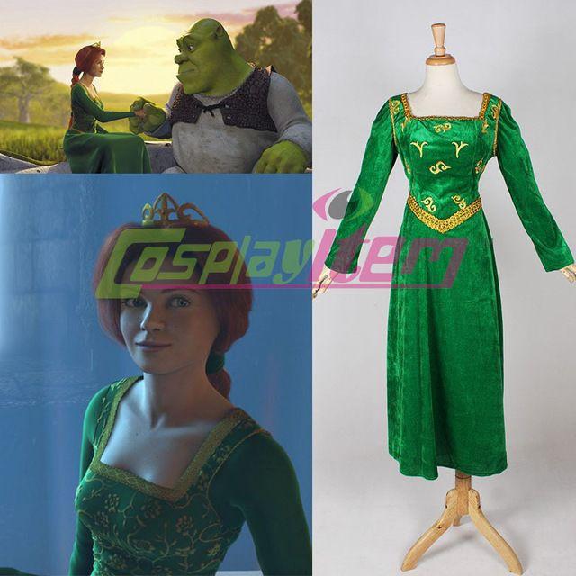 Hot selling Custom Made movie Shrek cosplay Shrek Princess Fiona ...