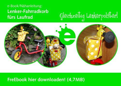 Grüne Freunde: FreE-Book: Lenker-Fahrradkorb fürs Laufrad