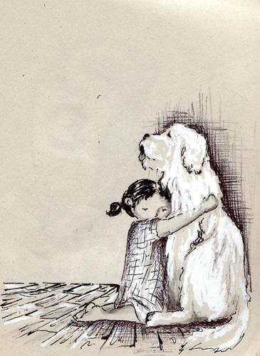 Doux calin - Virginie Maillard (http://www.myart-graphisme.com/illustration_portfolio.html)
