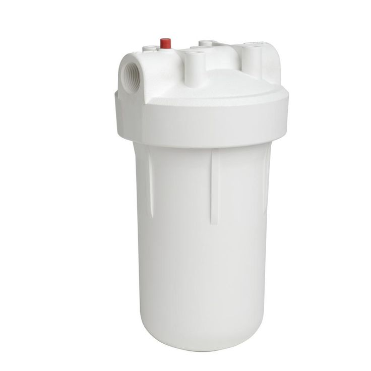 High-Flow Whole Home Water Filtration System with Pressure Release Button, White