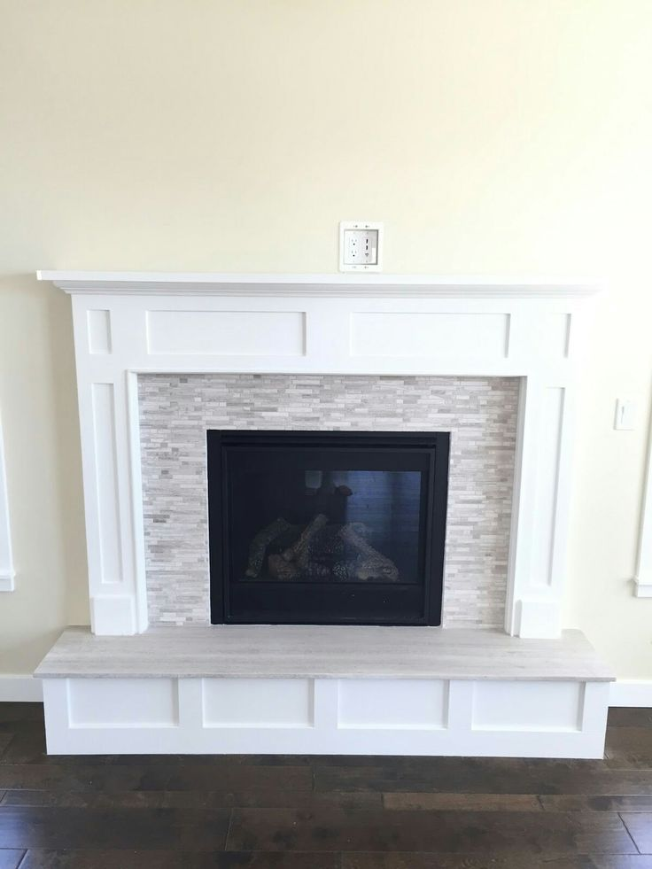 Wood Stove Surround Makeover