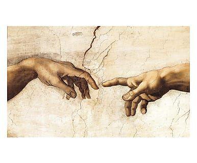 Tappeto multiuso digitale in vinile La Creazione di Adamo Michelangelo