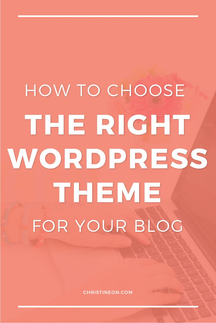 how to choose the write wordpress theme for your blog