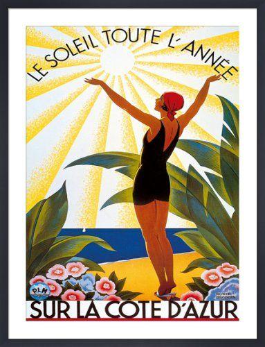 Sur la Cote d'Azur, Le Soleil Toute... Art Print by Roger Broders | King & McGaw