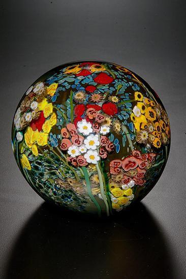 """Landscape Series Gazing Ball""  Art Glass Paperweight    Created by Shawn Messenger"