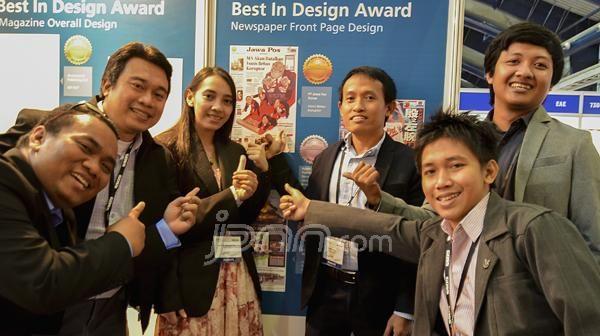 Jawa Pos diumumkan sebagai koran dengan desain halaman terbaik dalam ajang 12th Asian Media Awards WAN-IFRA 2013 di India, Rabu (11/9).