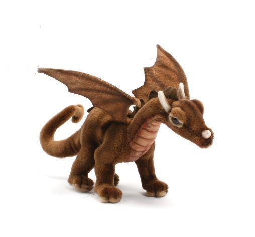 Realistic Stuffed Animals | HANSA Plush Brown Dragon 5937 Realistic Stuffed Animal Handmade ...