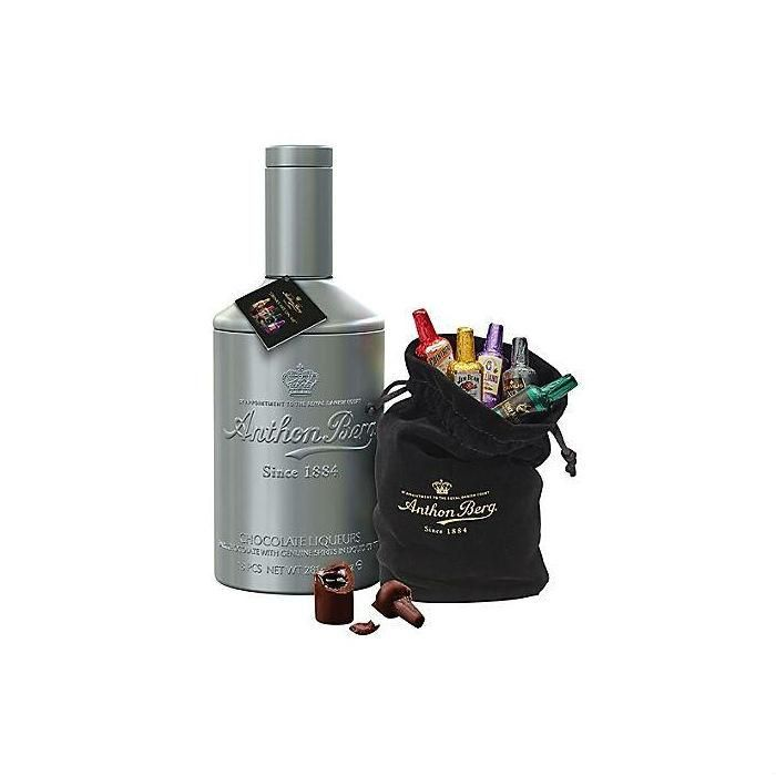Anthon Berg Tin Bottle with Chocolate Liqueurs