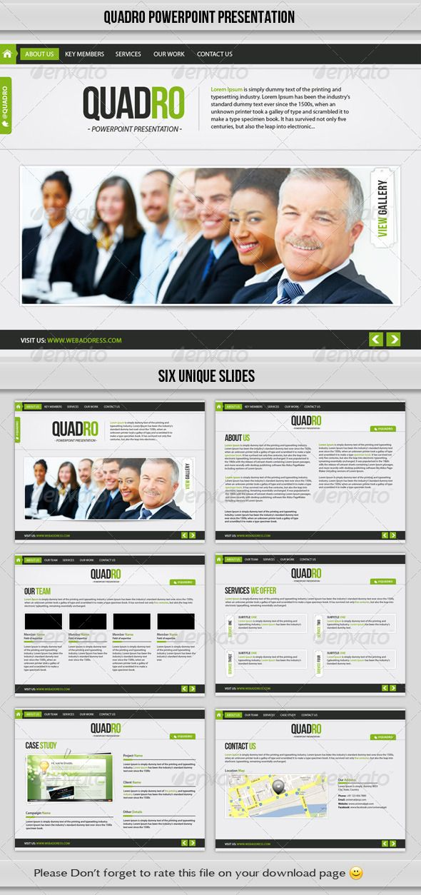 Elegant and clean PowerPoint Template for you next Business or General Purpose presentations.