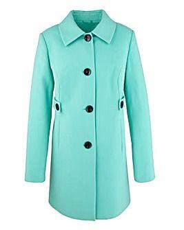 Contrast Button Coat