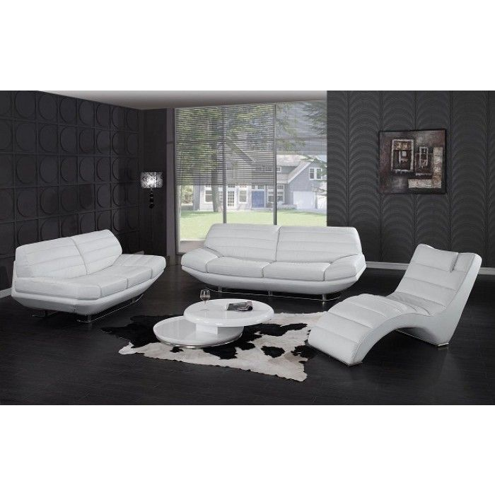 Divani Casa Boco   Modern White Leather Sofa. Best 25  White leather sofas ideas on Pinterest   White leather