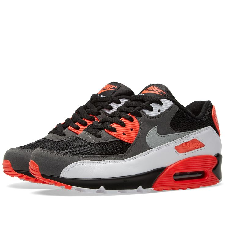 Nike Air Max 90 OG 'Reverse Infrared' (Black, Neutral & Dark Grey) Article: 725233-006 Release: 2015