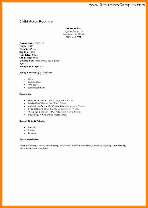 Acting Resume Template For Beginners Unique 7 Curriculum Vitae For Beginners In 2020 Acting Resume Template Acting Resume Job Resume Samples