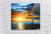 Sunset On The Lake Balaton - Ildikó Csegöldi Décsei - Canvas