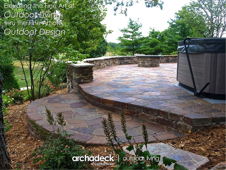 Belgard Mega Arbel Patio With Veneer Stone Seat Walls