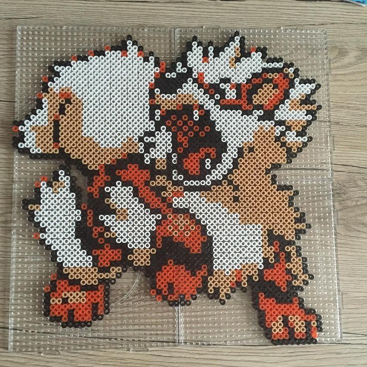 Arcanine - Pokemon perler beads by sii_xoxo_                                                                                                                                                                                 More