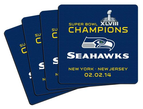 2014 Super Bowl XLVIII Champion Neoprene Coaster (4-Pack)