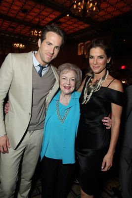 Sandra Bullock, Ryan Reynolds, and Betty White at an event for The Proposal (2009)
