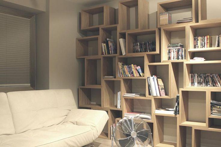 Nowoczesna domowa biblioteka - Architektura, wnętrza, technologia, design - HomeSquare