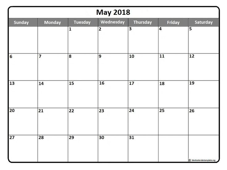 May  Printable Calendar Template  Snf Therapy
