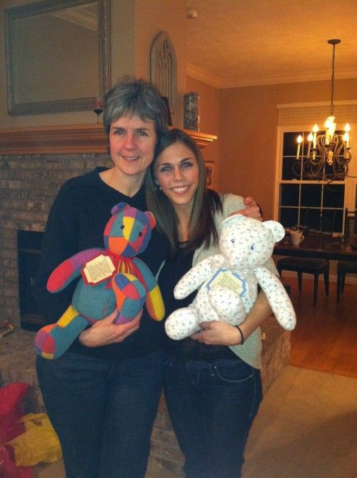 When a loved one passes, make a teddy bear out of a garment that was special to the deceased. What a special memory keeper. Smell and all.