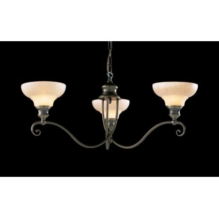 David Hunt ST311 Stratford 3 Light Traditional Ceiling Light Aged Brass Finish Complete With Glass Shades - Ceiling Lights from Ocean Lighting UK