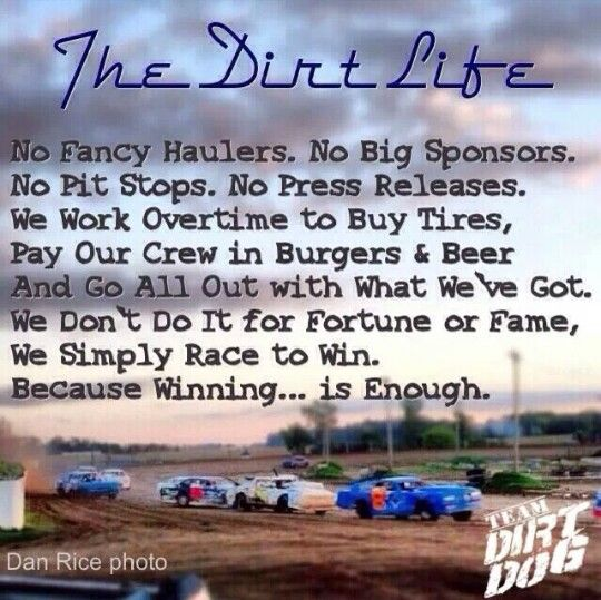 Gotta love dirt track racing!!!!