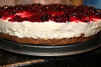 witte chocomousse taart, om je vingers bij af te likken!