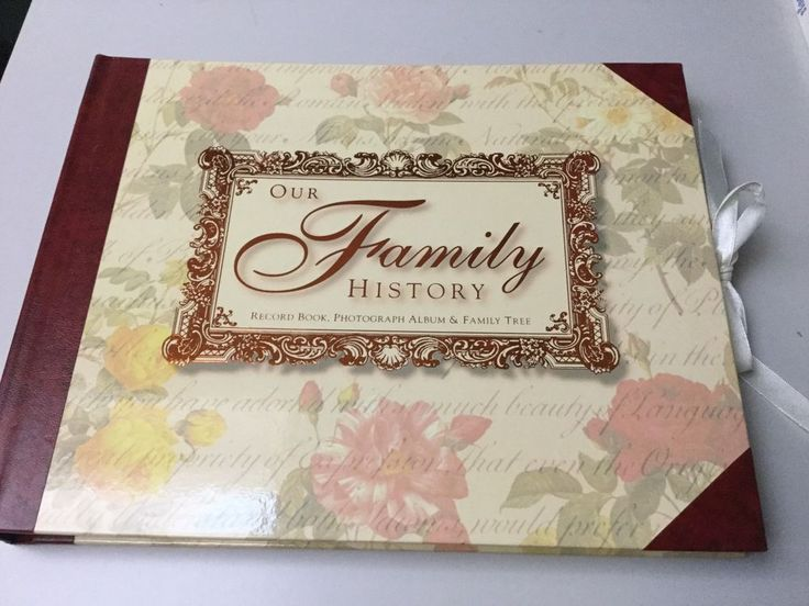 OUR FAMILY HISTORY RECORD BOOK, PHOTOGRAPH ALBUM & FAMILY TREE, NEW