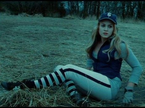 Twilight rose hale out playing baseball