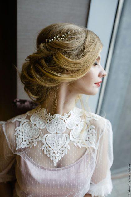 Vintage wedding dress / Одежда и аксессуары ручной работы. Ярмарка Мастеров - ручная работа. Купить Винтажное свадебное платье. Handmade. Бледно-розовый