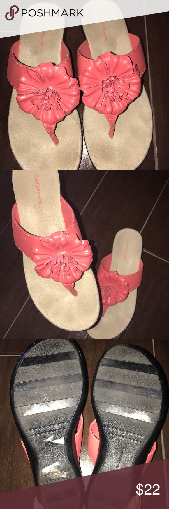 Croft & Barrow Slip in Flower sandal in coral These are super cute and ready for Easter Day by  Croft and Barrow Flower Sandal in coral. Size 6 croft & barrow Shoes Sandals