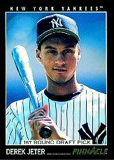 1993 Pinnacle # 457 Derek Jeter RC - New York Yankees - Baseball Rookie Card - Shipped In Protective Display Case! - http://www.rekomande.com/1993-pinnacle-457-derek-jeter-rc-new-york-yankees-baseball-rookie-card-shipped-in-protective-display-case/