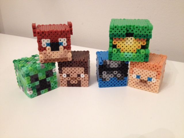 Achievement Hunter Perler Heads by RetroNinNin on DeviantArt