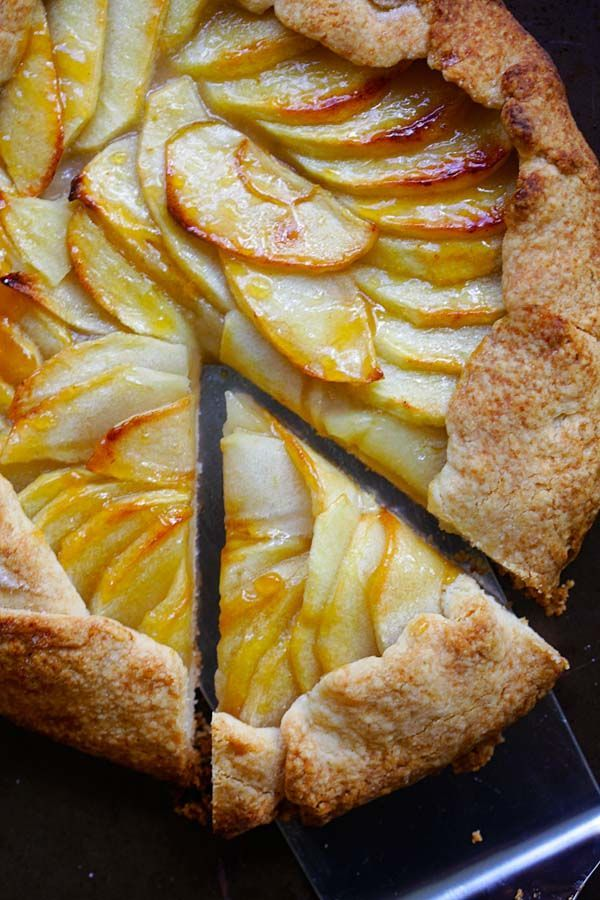 Rustic Apple Tart - the best and easiest apple tart recipe ever with buttery and the flakiest crust and sweet apple filling. A must-bake   rasamalaysia.com