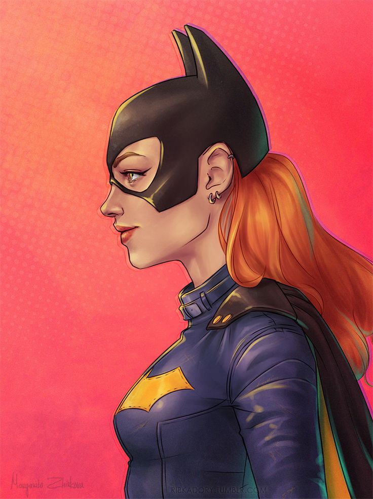 Topless batgirl art, grand father nude