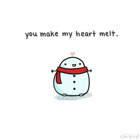 chibird:  This little penguin snowman is very charmed by you~