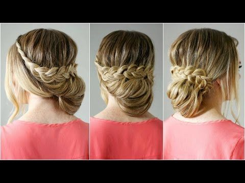 Lace Braid Wrapped Bun | Missy Sue - YouTube