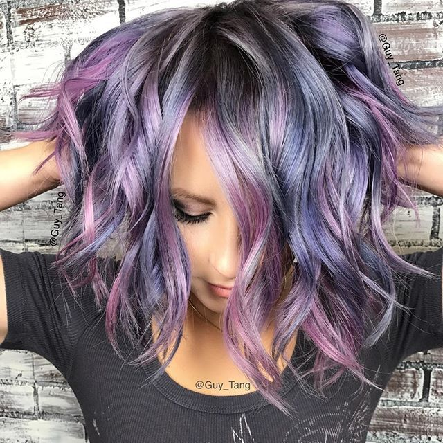 @hairbesties_ one of my favorite models in Pleasanton❤️ creating cool #rainbow #metallics tones with #Silver #Metallics and #boosters @kenraprofessional ! See all HairBesties in Omaha Nebraska this weekend##❤️ thank you to my team @arianasin @kimwasabi @cksullivan14