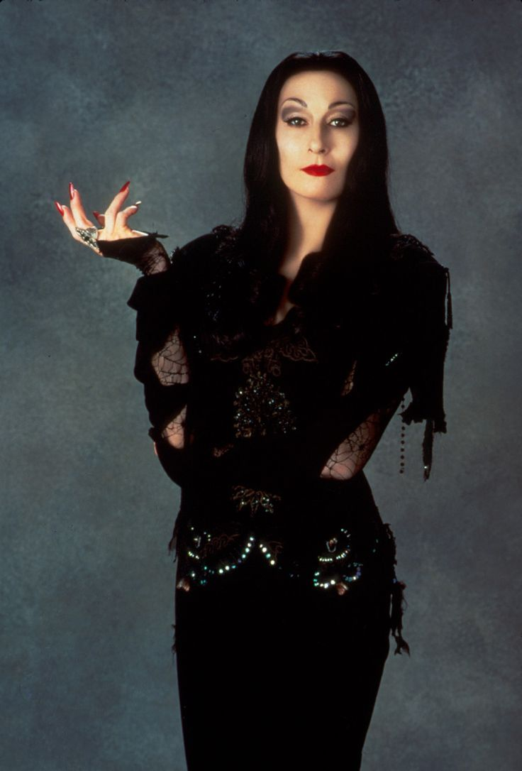 Uncle fester the addams family pinterest - The Addams Family 1991 Costume Design Ruth Myers Floor Length Black Corseted Dress With Bead Embellishment And Spiderweb Lace Sleeves Worn By Anjelica