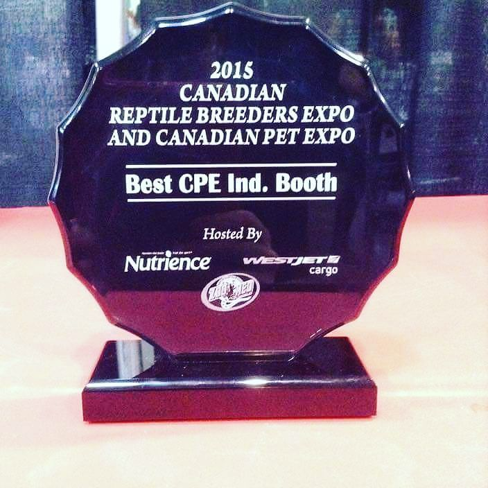 So proud to have won the best booth award at the Canadian Pet Expo!