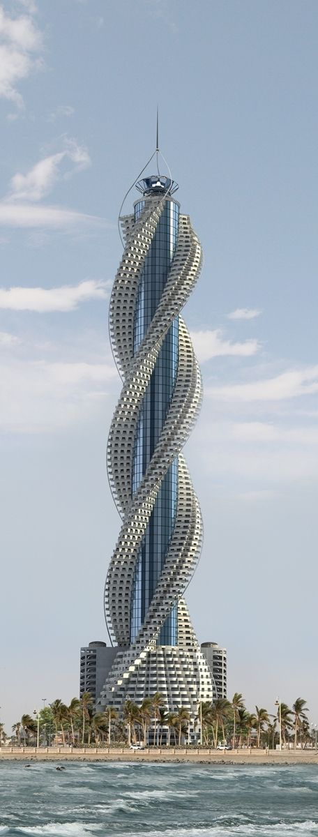Diamond Tower, Jeddah, Saudi Arabia designed by Buruoj Engineering Consultant :: 93 floors, height 432m Architecture