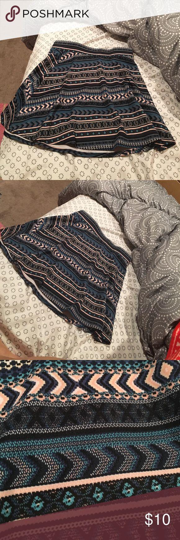 High waisted skater skirt High waisted patterned skater skirt ! Never worn Charlotte Russe Skirts Circle & Skater