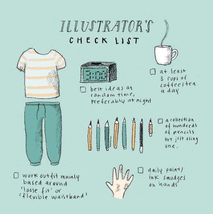 Illustrators check list (Marloes De Vries)