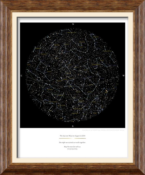 GreaterSkies - Personalized posters of the stars - best gift for Dad!